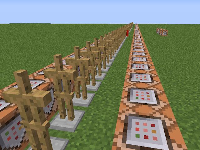 Minecraft weergave van een huiswerkmachine die  woordjes overhoort.