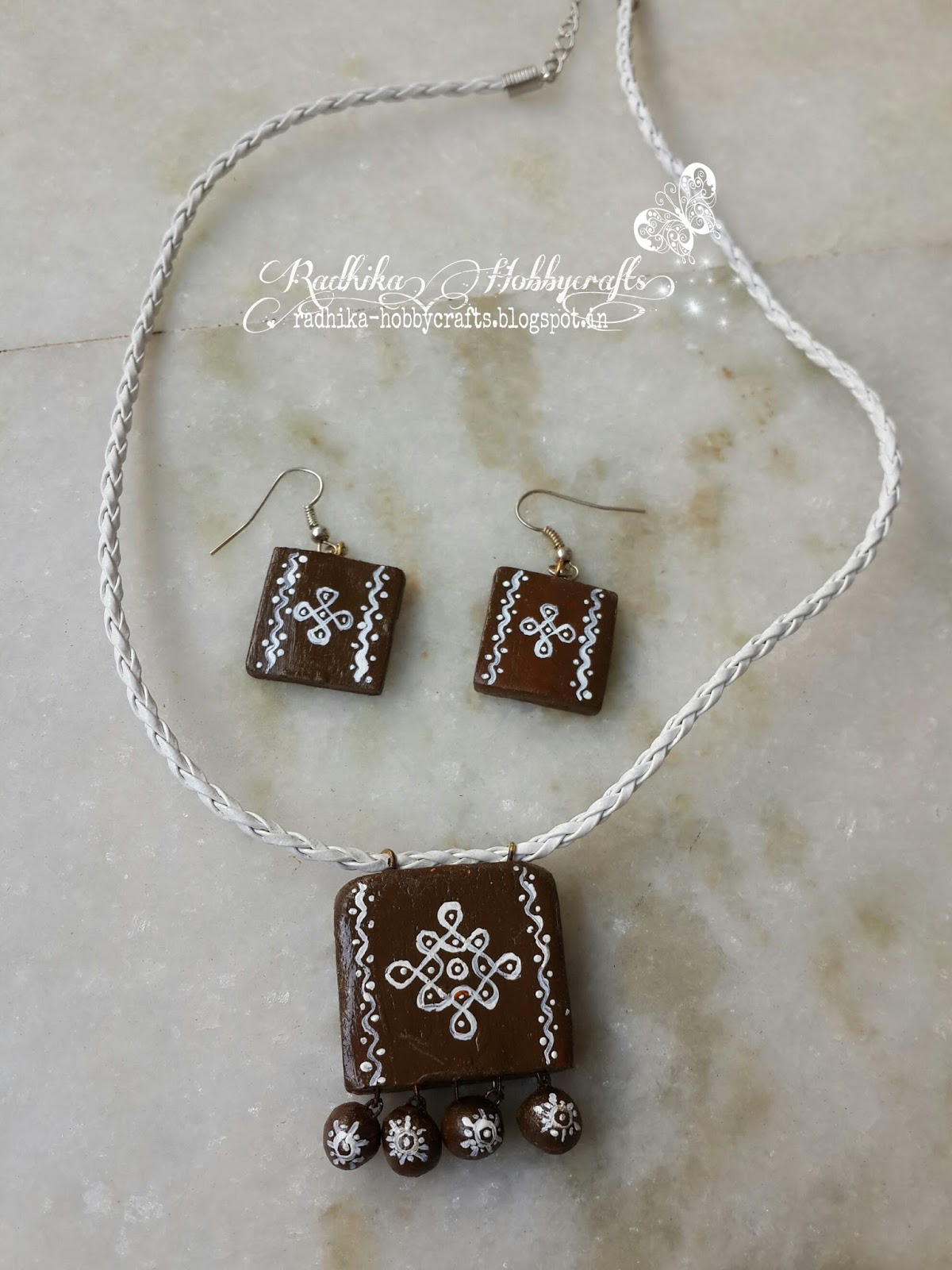 Hobby Crafts :): Terracotta Jewellery sets and Earrings