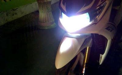 lampu motor tidak panas dengan resistor