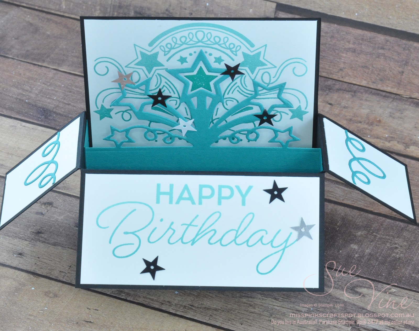 miss pinks craft spot birthday blast card in a box