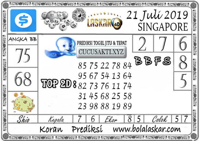 Prediksi Togel SINGAPORE LASKAR4D 21 JULI 2019