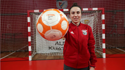 86f6cb3603 A nossa guarda-redes de Futsal