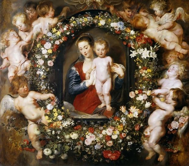 Pieter Paul Rubens - Мадонна с Младенцем в цветочной гирлянде