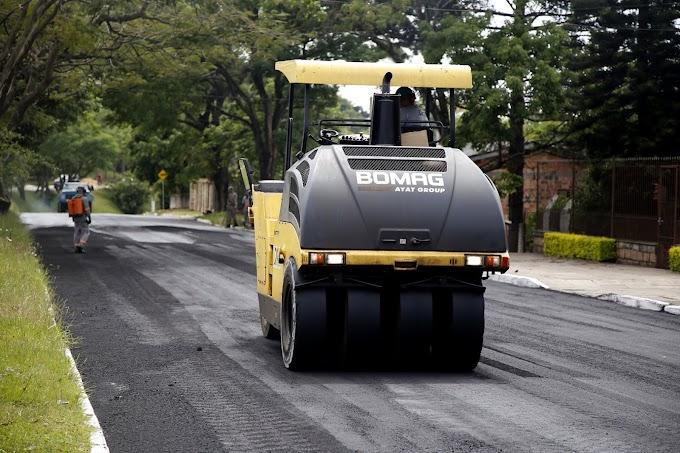 GRAVATAÍ: Prefeitura revitaliza Avenida Itacolomi com nova camada asfáltica