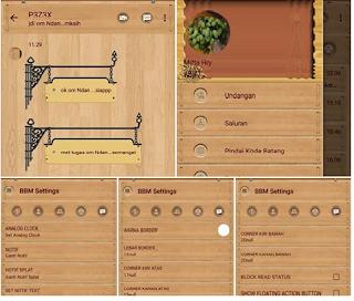 Kumpulan BBM MOD Wood Tema Kayu Apk v3.2.0.6 Terbaru By Ciben