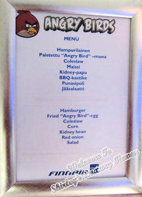 finnair angry birds menu