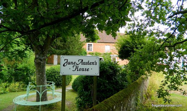 Jardim da casa onde viveu Jane Austen