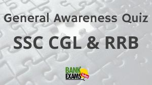 General Awareness Quiz for SSC