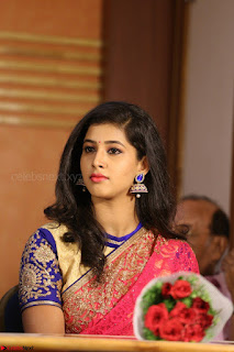Lavanya in Red Saree at With Love Boys Movie First Look Launch 5th May 2017  Exclusive 027.JPG