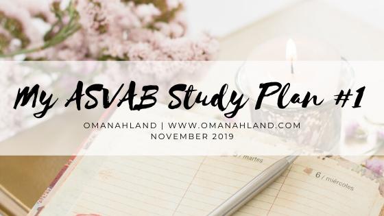 My Study Plan #1