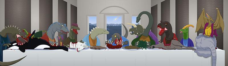 The Last Supper of Raptor Jesus by Greasymoose