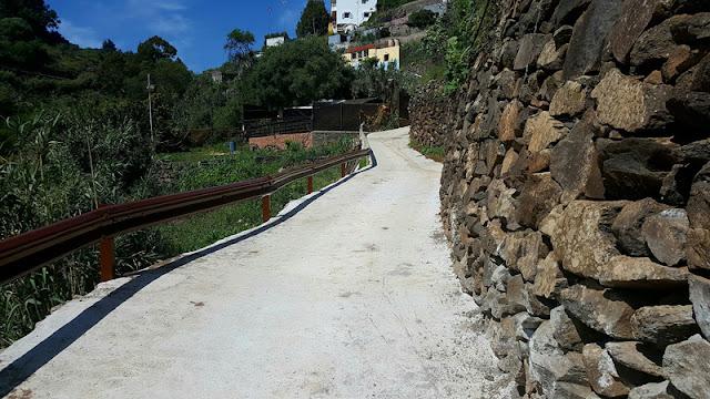 Reposición muro carretera al Barranquillo, Barranco Merdejo, Pino Santo, Santa Bríguida