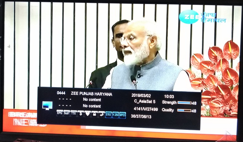 Zee Punjab Haryana Channel free to air from Asiasat 7