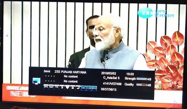 Zee Punjab Haryana Channel free to air from Asiasat 7 satellite - C-Band