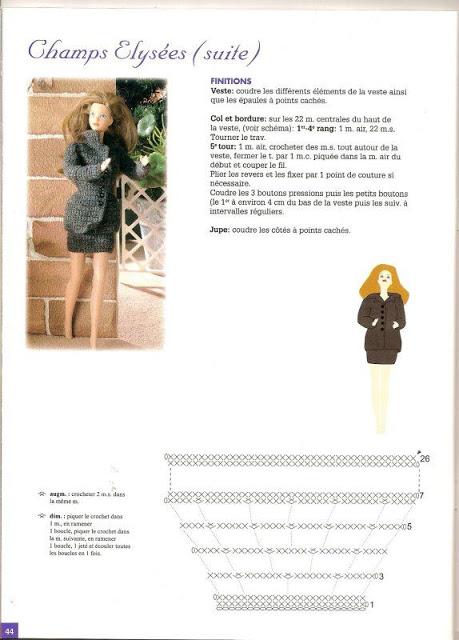 Tailleur au crochet pour Barbie