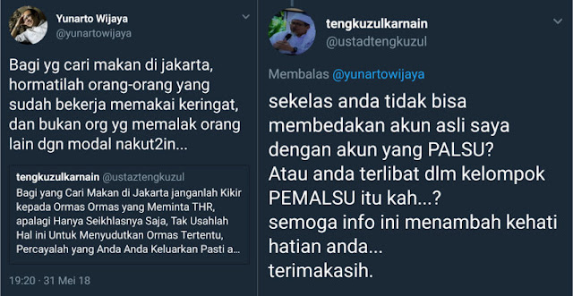 Tanggapi Akun Palsu Wasekjen MUI, Yunarto Di-skakmat Ustadz Tengku Zulkarnain