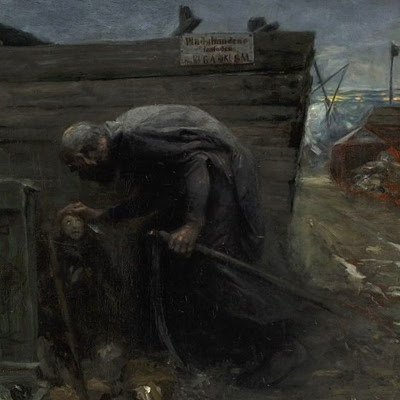 H.A. Brendekilde: En dreng møder døden (udsnit)