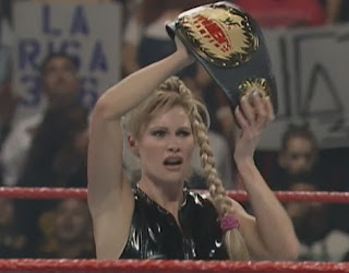 WWE / WWF Royal Rumble 1999 - Sable retained the women's championship in a strap match against Luna Vachon