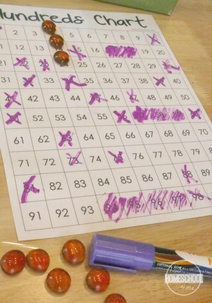 hundreds chart battle games