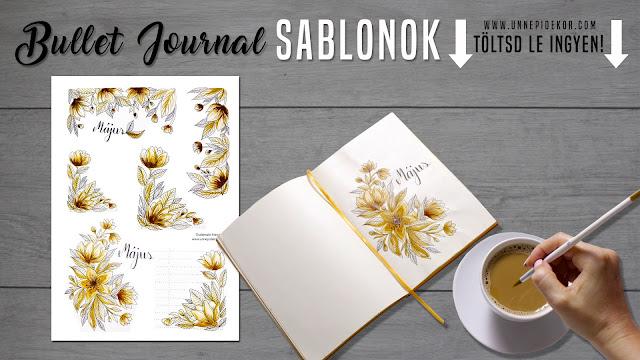 BULLET JOURNAL 2018 MAY COFFEE FLOWERS