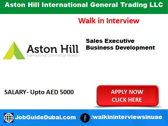 job in dubai for sales executive and business development executive
