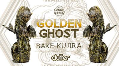 Clutter Exclusive Golden Ghost Edition Bake-Kujira Vinyl Figure by Candie Bolton