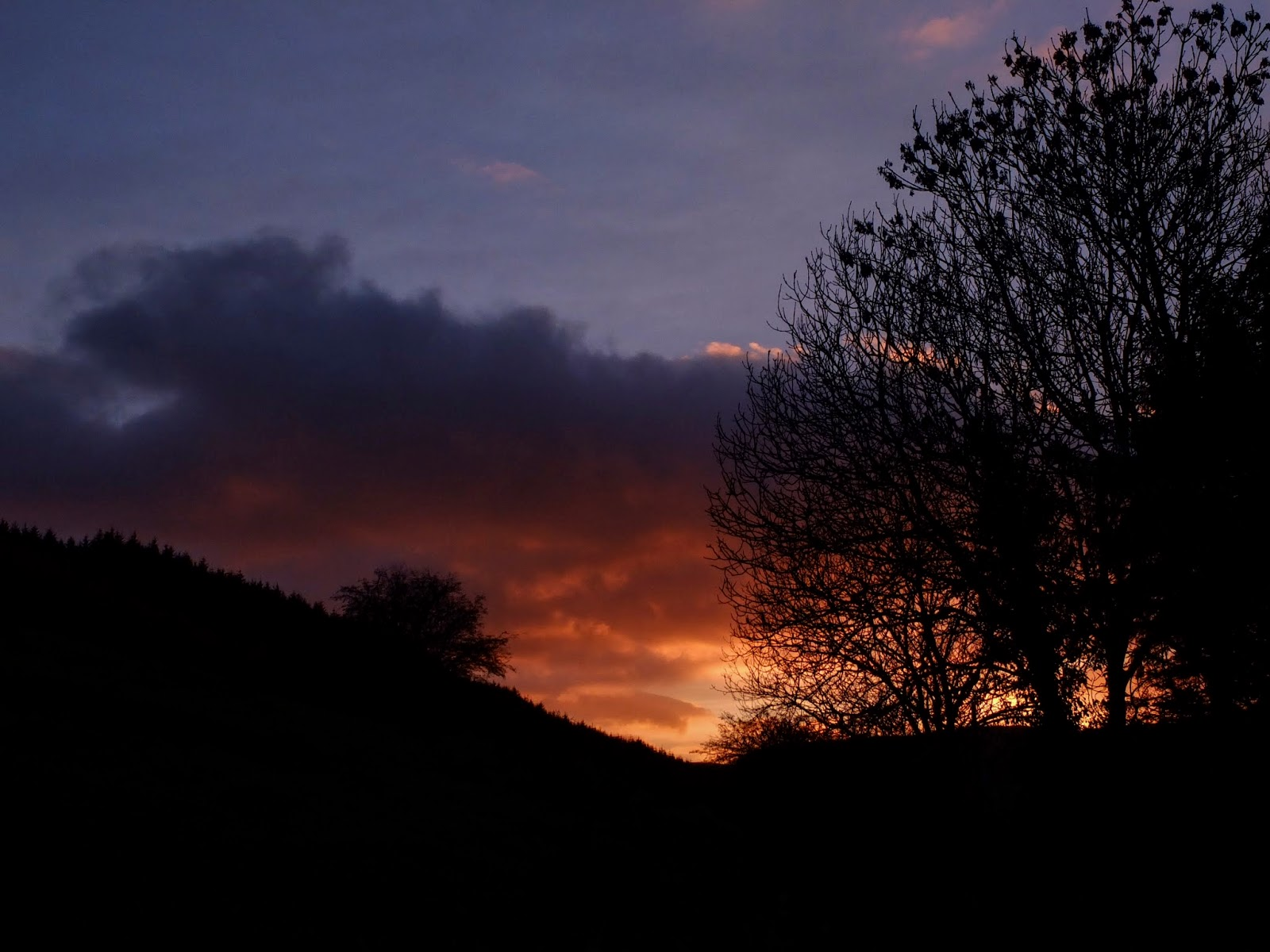 Sunset on a hillside in the Boggeragh Mountains in North Cork.