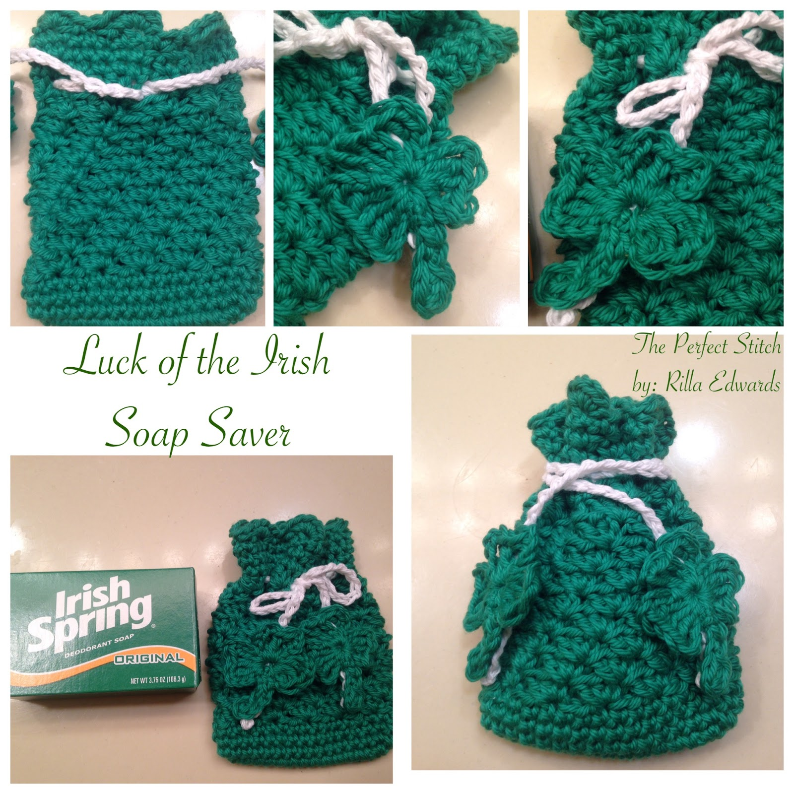 The Perfect Stitch...: Luck of the Irish Soap Saver...