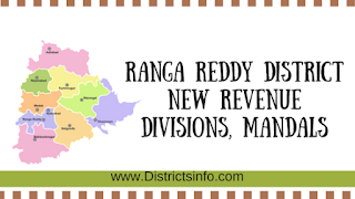 Ranga Reddy District new Revenue Divisions, Mandals