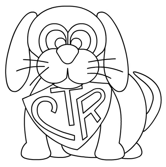 Click to see printable version of CTR With Dog Coloring page