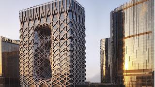 Hình chụp facade ấn tường cảu Khách sạn Morpheus Macau