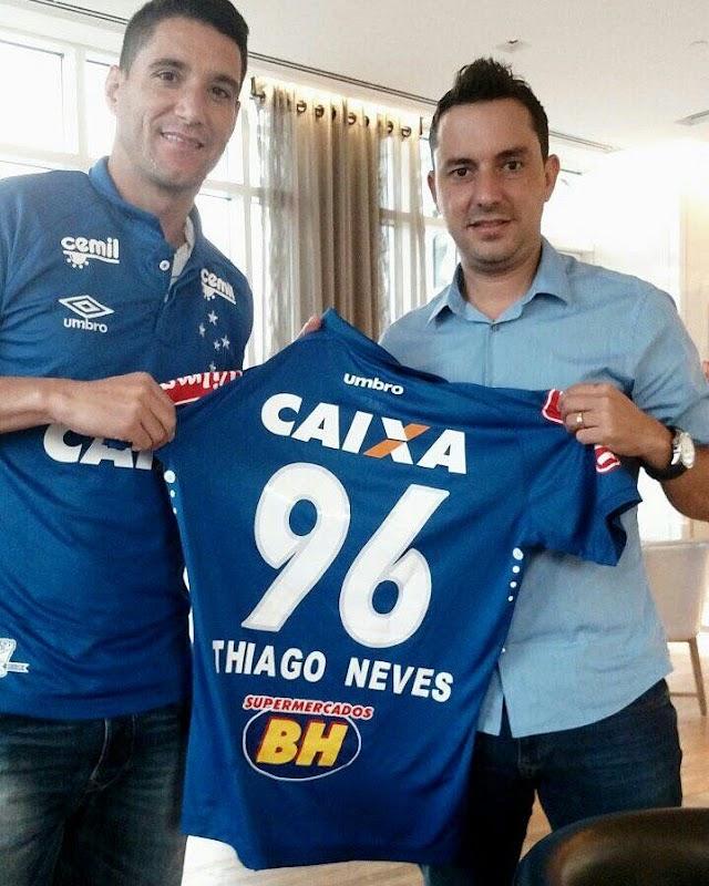Oficial, Thiago Neves é do Cruzeiro