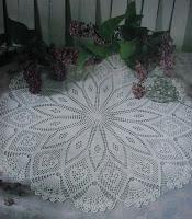 Centro de mesa de crochê com gráfico
