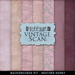 Freebies Background Kit - Heather Honey