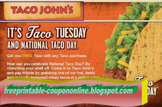 Free Printable Taco Johns Coupons