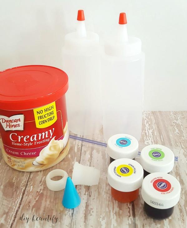 tie dye sugar cookie recipe supplies