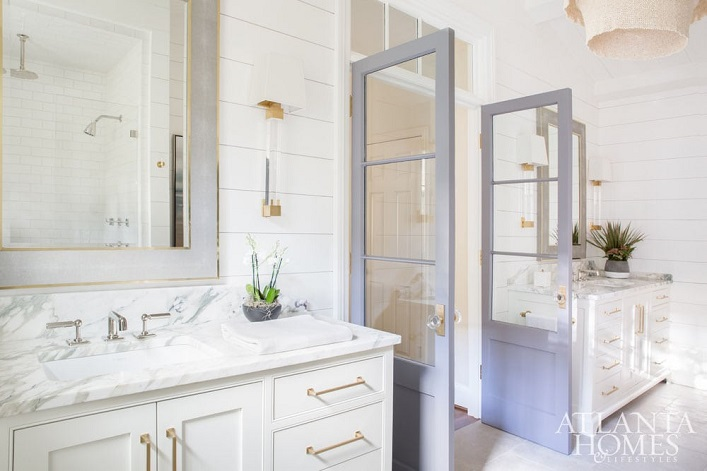Beautiful Bathroom Color Schemes For 2018: Mix And Chic: Favorite Room Of The Week