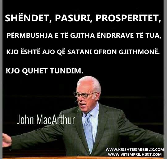 Prosperiteti, Ungjilli, macarthur shqip,