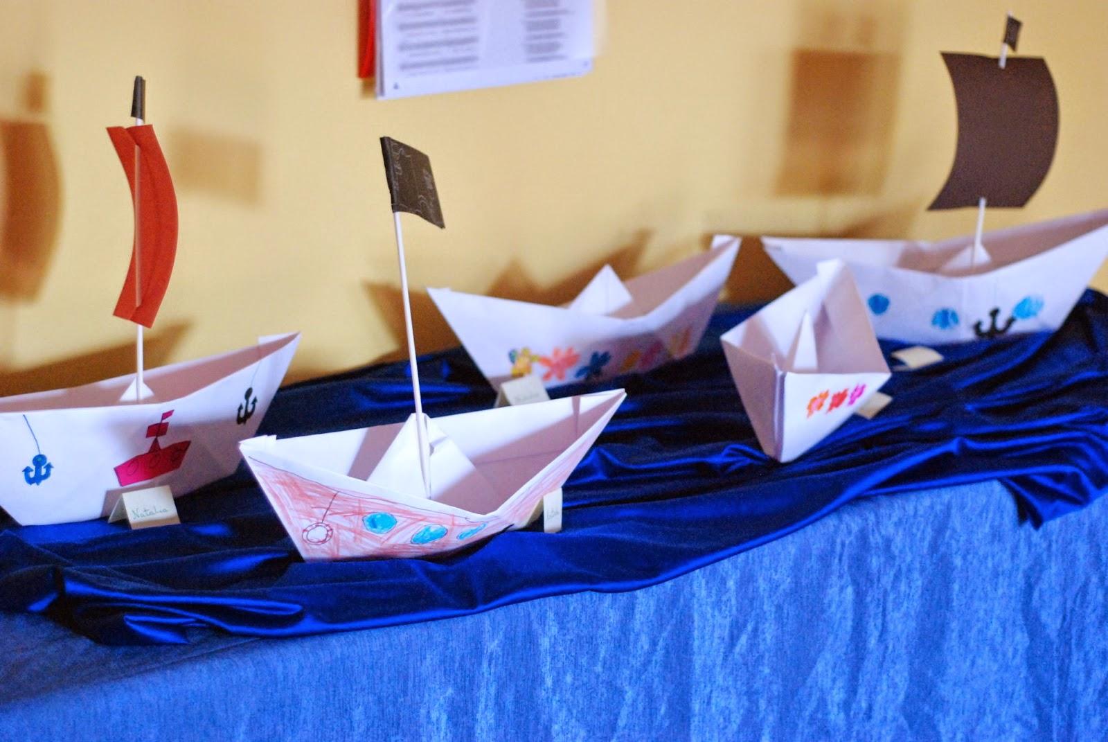 Papierowa łódka origami