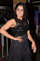 Wamiqa Gabbi in a sleeveless Black Designer Transparent Gown at 64th Jio Filmfare Awards South ~  Exclusive 012.JPG