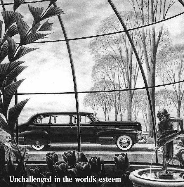 1944 Cadillac ad illustration, Unchallenged in the world's esteem