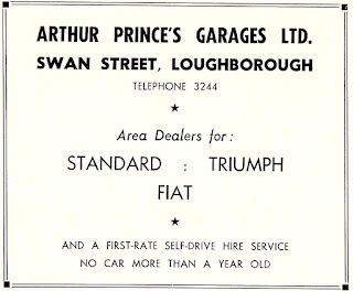 Arthur Price's Garage Ltd 1962 advert