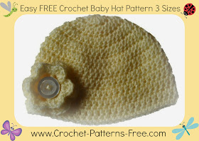 free crochet baby hat pattern 3 sizes