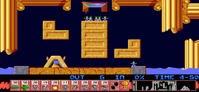 Lemmings Gameplay