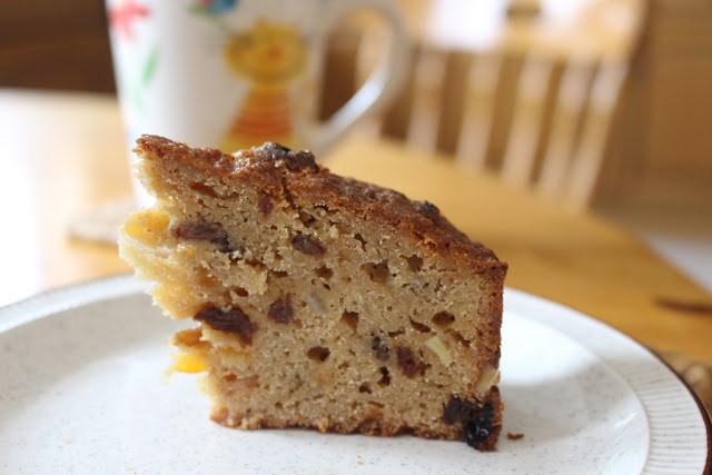 A slice of parsnip winter cake