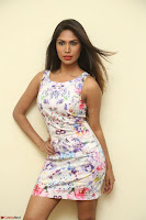 Nishi Ganda stunning cute in Flower Print short dress at Tick Tack Movie Press Meet March 2017 064.JPG