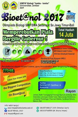 Bioet@Nol 2017 Olimpiade Biologi Se-Jawa Timur Dan Bali by HMPSPB Lumba-lumba