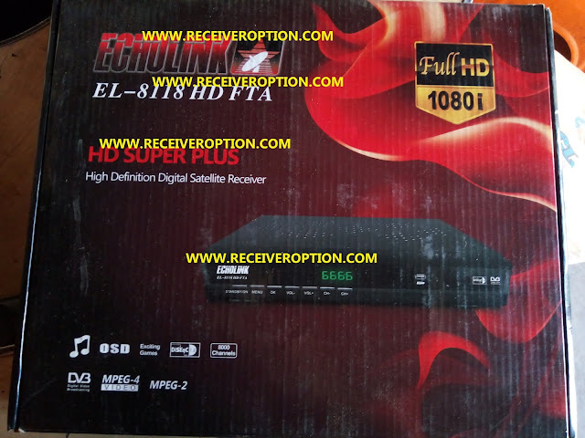 ECHOLINK EL-8118 HD FTA RECEIVER BISS KEY OPTION