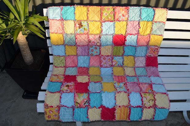 Suzy Bee Sews Rag Quilt Moda Coquette