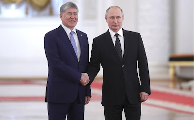 Vladimir Putin and Almazbek Atambayev/